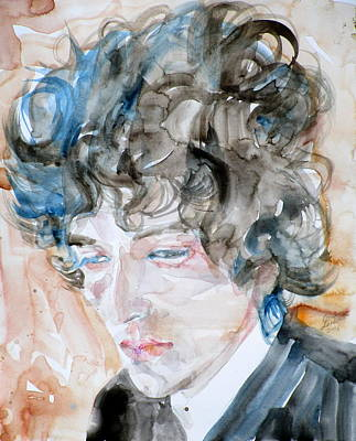 Bob Dylan - Watercolor Portrait.18 Art Print