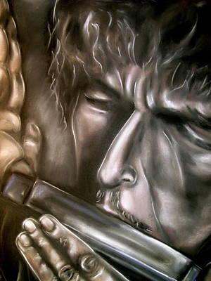 Bob Dylan Art Print by Zach Zwagil