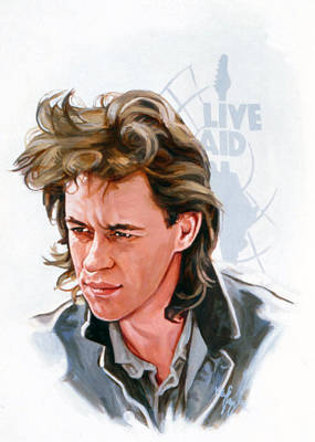 Bob Geldof  Original by Neil Feigeles