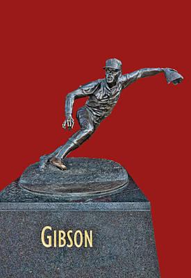 Photograph - Bob Gibson Statue - Busch Stadium by Allen Beatty