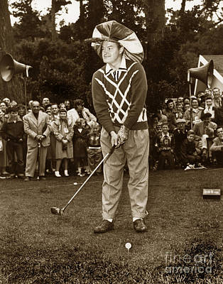 Photograph - Bob Hope At Pro-am At Pebble Beach California 1953 by California Views Mr Pat Hathaway Archives