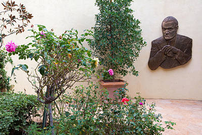 Photograph - Bob Hope Memorial Garden - Mission San Fernando - Los Angeles California by Ram Vasudev