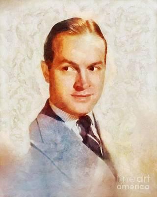 Bob Hope Painting - Bob Hope, Vintage Hollywood Legend by Sarah Kirk