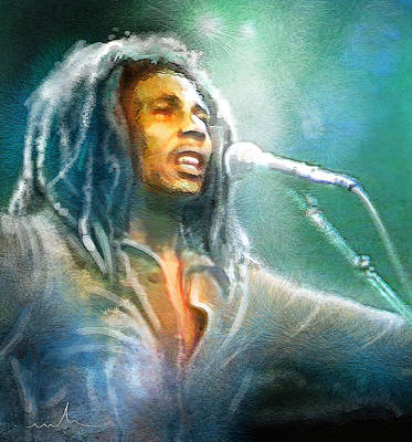 Jamaica Mixed Media - Bob Marley 09 by Miki De Goodaboom