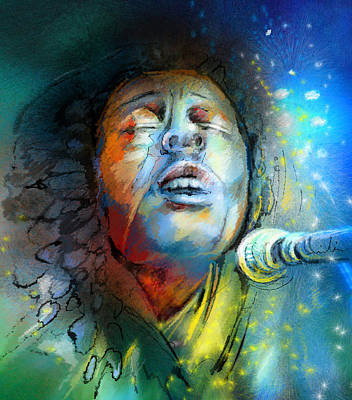 Jamaica Mixed Media - Bob Marley 10 by Miki De Goodaboom