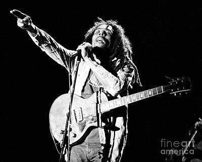 Singer Photograph - Bob Marley 1978 by Chris Walter