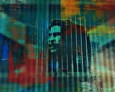 Digital Art - Bob Marley Abstract by Kathy M Krause