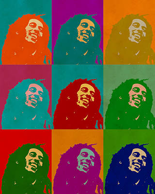 Digital Art - Bob Marley by Anthony Murphy
