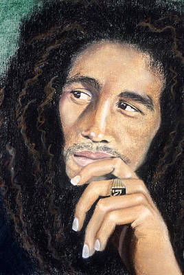 Drawing - Bob Marley by Ashley Kujan