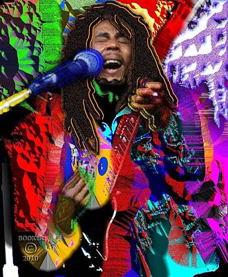Bobmarley Digital Art - Bob Marley by Booker Williams