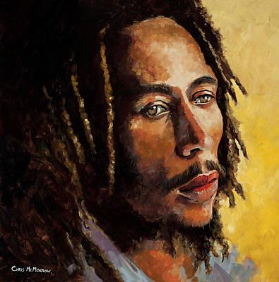 Rastafarian Painting - Bob Marley by Chris Mc Morrow