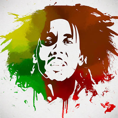 Painting - Bob Marley Colors by Dan Sproul