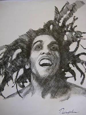 Rasta Drawing - Bob Marley by Dalushaka Mugwana