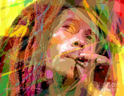 Bob Marley Painting - Bob Marley by David Lloyd Glover