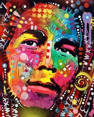 People Mixed Media - Bob Marley by Dean Russo
