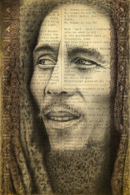 Pencil Drawing - Bob Marley Drawing by Jeffrey St Romain