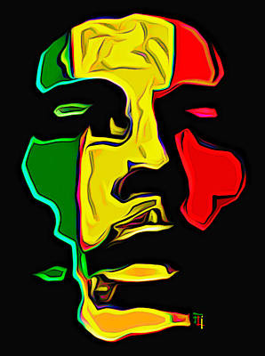 Bob Marley Print by  Fli Art