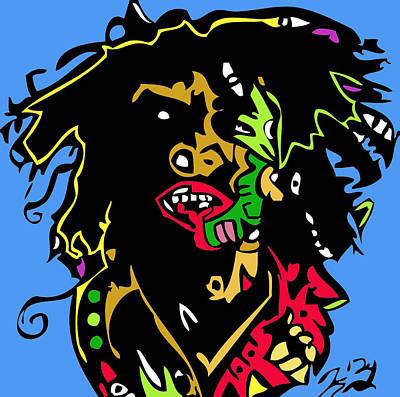 Bobmarley Digital Art - Bob Marley Full Color by Kamoni Khem