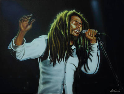 Painting - Bob Marley by Hay Rouleaux