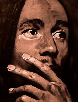 Pastel - Bob Marley In Thought by Mandy Thomas