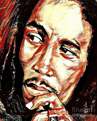 Digital Art - Bob Marley by Jessie Art