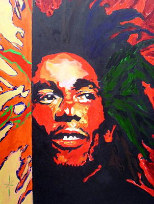 Painting - Bob Marley by Jodie Marie Anne Richardson Traugott          aka jm-ART