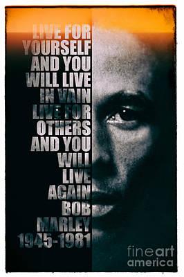 Rap Photograph - Bob Marley by Jonas Luis