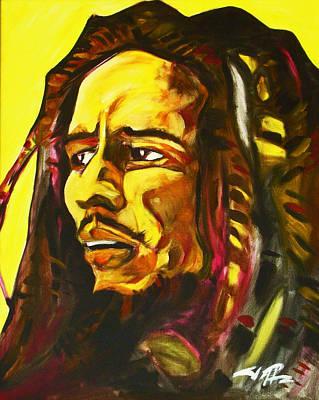 Painting - Bob Marley by Joseph Palotas