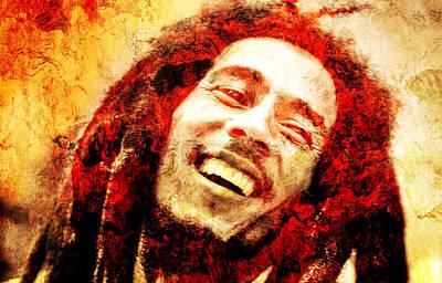 Paiting Photograph - Bob Marley by J- J- Espinoza