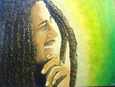Keenya Woods Painting - Bob Marley by Keenya  Woods