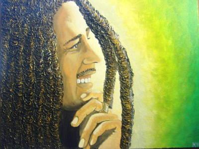 Keenya Woods Mixed Media - Bob Marley by Keenya  Woods