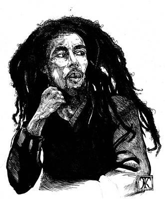 Bob Marley Art Print by Keith  Thurman