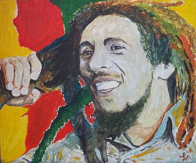 Bobmarley Painting - Bob Marley  by Lee Madrid