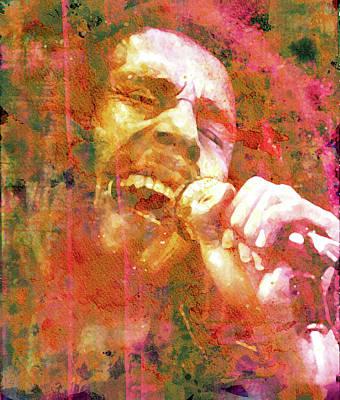 Rastafari Mixed Media - Bob Marley Legend by Mal Bray