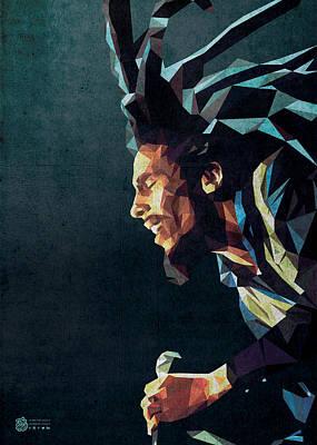 Digital Art - Bob Marley Low Poly by Flavio Lisi