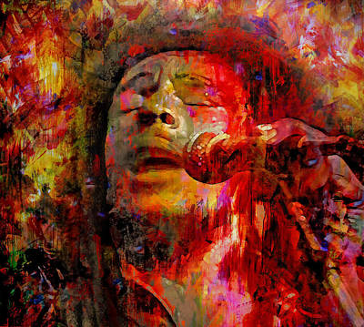 Rastafari Mixed Media - Bob Marley by Mal Bray