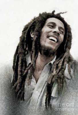 Recently Sold - Music Paintings - Bob Marley, Music Legend by Esoterica Art Agency