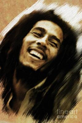 Musicians Royalty-Free and Rights-Managed Images - Bob Marley, Music Legend by Mary Bassett