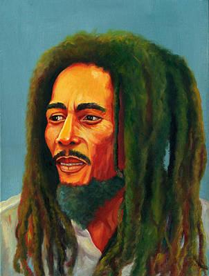 Jamaican Art Painting - Bob Marley Natural Mystic by Kavion Robinson
