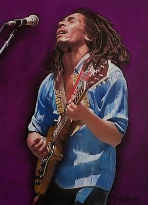 Mixed Media - Bob Marley No 11 by Mandy Thomas
