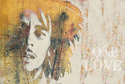Poster Mixed Media - Bob Marley  - One Love by Paul Lovering