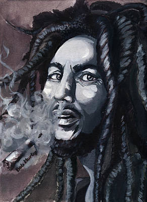 Bob Marley Portrait Art Print by Alban Dizdari