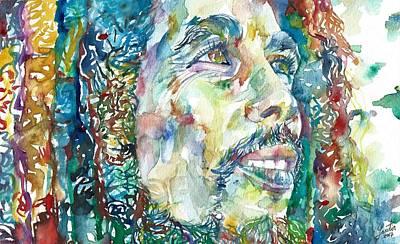 Painting - Bob Marley Portrait.19 by Fabrizio Cassetta