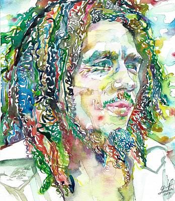 Painting - Bob Marley Portrait.20 by Fabrizio Cassetta