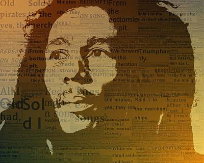 Bob Marley Redemption Song Art Print