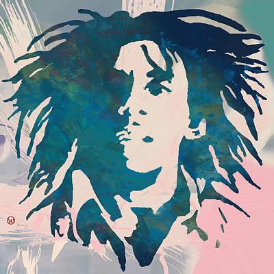 Pop Art Drawing - Bob Marley Stylised Pop Art Poser by Kim Wang