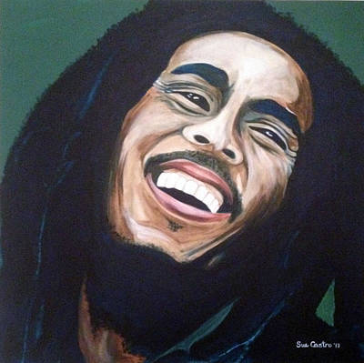 Jamaican Painting - Bob Marley by Suzette Castro