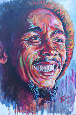 Famous People Painting - Bob Marley by Tachi Pintor