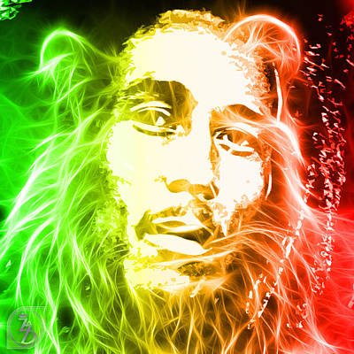 Jamaica Mixed Media - Bob Marley by The DigArtisT