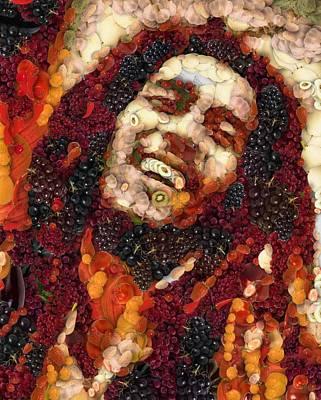 Digital Art - Bob Marley Vegged Out by Catherine Lott
